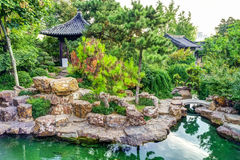 The traditional exterior decoration of Chinese garden Royalty Free Stock Photo