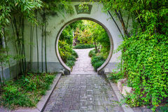 The traditional exterior decoration of Chinese garden Stock Photos
