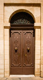 Traditional exterior door in Malta. The historic center of Mdina Stock Photos