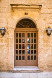 Traditional exterior door in Malta. The historic center of Mdina Stock Photography