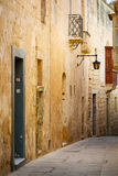 Traditional exterior door in Malta. The historic center of Mdina Stock Image
