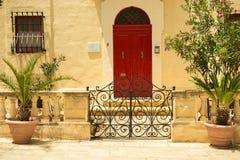 Traditional exterior door in Malta Stock Photography