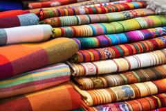 traditional fabrics Royalty Free Stock Photography
