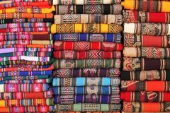 traditional fabrics from Andean region Stock Images