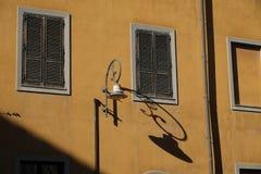 Traditional facade in the old neighborhood of Cagliari Castello - Sardinia.  stock photos