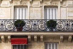 Traditional Facade in  Paris Stock Photo