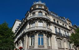 The traditional facade of Parisian building, France. Stock Photography