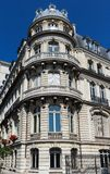 The traditional facade of Parisian building, France. Royalty Free Stock Photography