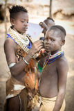 Traditional facial painting in the Karo Tribe Royalty Free Stock Photography