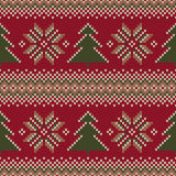 Traditional Fair Isle Knitted Sweater Design. Seamless Vector Pa Stock Photo