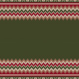 Traditional Fair Isle Knitted Sweater Style Pattern with a Place Royalty Free Stock Photo