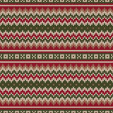 Traditional Fair Isle Knitted Sweater Style Pattern. Seamless Ve. Seamless Pattern on the Wool Knitted Texture. EPS available Royalty Free Stock Photos