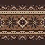 Traditional Fair Isle Pattern. Seamless Knitting Ornament Royalty Free Stock Photo