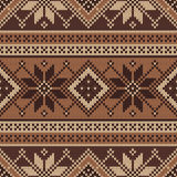 Traditional Fair Isle Pattern. Seamless Knitting Ornament Royalty Free Stock Photography