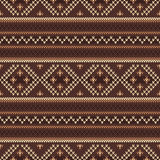 Traditional Fair Isle Pattern. Seamless Knitting Ornament Stock Image