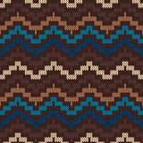 Traditional Fair Isle Pattern. Seamless Knitting Ornament Stock Photos