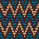 Traditional Fair Isle Pattern. Seamless Knitting Ornament vector illustration