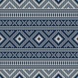 Traditional Fair Isle Pattern. Seamless Knitting Ornament Royalty Free Stock Photos