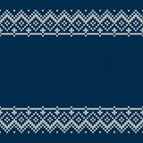 Traditional Fair Isle Style Seamless Knitted Pattern. Christmas and New Year Background with a Place for Text Royalty Free Stock Photography