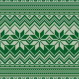 Traditional Fair Isle Style Seamless Knitted Pattern. Christmas and New Year Design Knitting Sweater Design Stock Images
