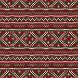 Traditional Fair Isle Style Seamless Knitted Pattern. Christmas Royalty Free Stock Photos