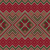 Traditional Fair Isle Style Seamless Knitted Pattern. Christmas Stock Image