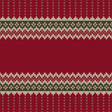 Traditional Fair Isle Style Seamless Knitted Pattern. Christmas Stock Photography