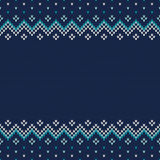 Traditional Fair Isle Style Seamless Knitted Pattern. Christmas Royalty Free Stock Image
