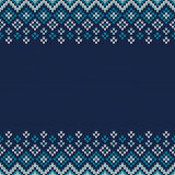 Traditional Fair Isle Style Seamless Knitted Pattern. Christmas Royalty Free Stock Photo