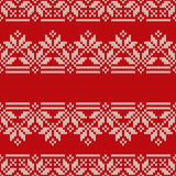 Traditional Fair Isle Style Seamless Knitted Pattern. Christmas Stock Images