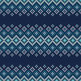 Traditional Fair Isle Style Seamless Knitted Pattern Stock Images