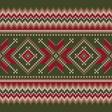 Traditional Fair Isle Sweater Design. Seamless Knitted Pattern Stock Image