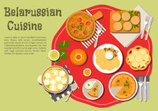 Traditional family dinner of belarusian cuisine Stock Images