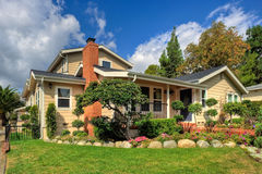 Traditional Family Home. In a Wealthy Suburb royalty free stock photography
