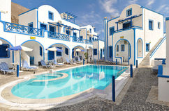 Traditional family hotel in Perisa Royalty Free Stock Photos
