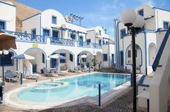 Traditional family hotel in Perisa Stock Photos