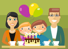 Traditional family selebration Royalty Free Stock Photos