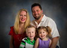 Traditional Family Studio Portrait Royalty Free Stock Images