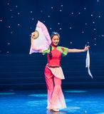The traditional fan-Chinese folk dance Royalty Free Stock Image