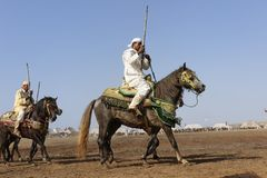 Traditional fantasia in Morocco Stock Image