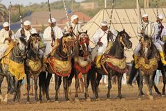 Traditional fantasia in Morocco Royalty Free Stock Image