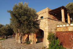 Traditional farm house at countryside, Crete island, Greece Stock Photography