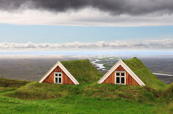 Traditional Farm Houses, Iceland Stock Photos