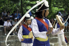 Traditional farmers dancers. Stock Image