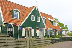 Traditional farmers house decorated with flags at kingsday in th Stock Photography
