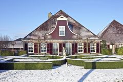 Traditional farmershouse in the countryside in the Stock Photography