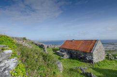 Traditional Farmhouse, inismeain, aran islands, ireland Royalty Free Stock Photo