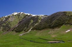 Traditional farming. Ushguli. Svaneti. Georgia. Royalty Free Stock Images