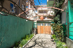 Traditional farmstead in the Bulgarian town of Pomorie Royalty Free Stock Photography