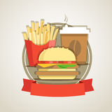 Traditional fast food menu Royalty Free Stock Photos